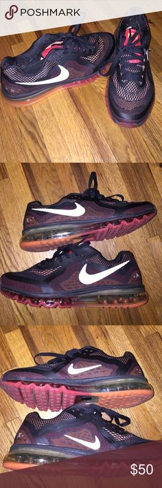 Nike Air Max Nike Air Max 2014 colors are black/red/orange no flaws Nike Shoes Sneakers
