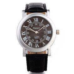 Цветок линии текстуры набрать мужчины точная римские цифры ретро Leatheroid группа 2 цветов новый бесплатная доставка стильные кварцевые наручные часы