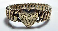 Sweetheart Bracelet WWII Gold Heart Flexible