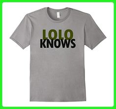 Mens Lolo Knows Best Grandpa Ever Filipino Pinoy Papa Dad T-shirt Medium Slate - Relatives and family shirts (*Amazon Partner-Link)