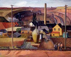 1934 E. Dewey Albinson (American artist, 1898-1971) Northern Minnesota Mine