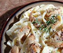 Biggest Loser Recipes - Suzy's Fettucine Alfredo *also includes how to make spaghetti squash in the microwave.