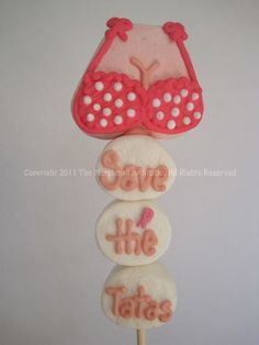 PINK For The Cure 'Save the Tatas' Top #marshmallow #pop #BreastCancer