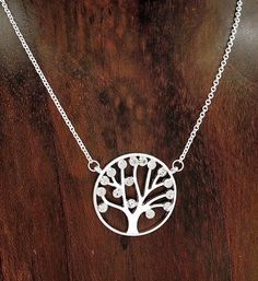 Silver With Faceted Crystals Divine Tree of Life Necklace #HandMade #TreeOfLife