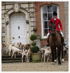 Just a small daydream of the past.  I would not go fox hunting today, instead maybe cross county eventing. But to imagine one's ancestors...