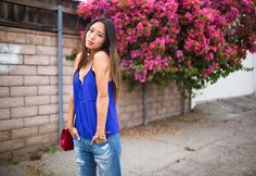 Song of Style: Red White and Blue Boyfriend Jeans