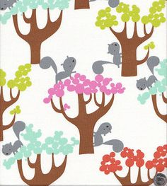 Get Together by David Walker Squirrels and Trees by quiltsandwich, $9.00