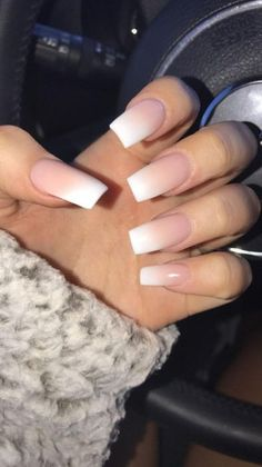 40 New Acrylic Nail Designs To Try This Year .- 40 New Acrylic Nail Designs To Treat This Year - French Acrylic Nails, Cute Acrylic Nails, Cute Nails, Gel Nails, Coffin Nails, Toenails, Ombre French Nails, French Acrylics, Square Acrylic Nails