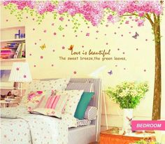 Kidsline Dena Bali Blossom Wall Appliques Stickers Girl/'s Nursery Flowers Pink