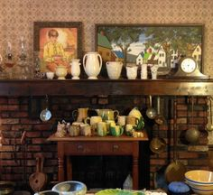 Eclectic display of items available