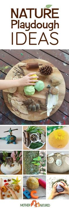 Use playdough to make.pur own.lichens.grow on trees! Nature playdough ideas | Natural playdough Ideas | Nature play