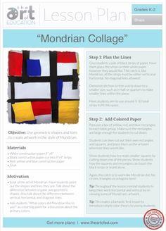 Mondrian Collage: Free Lesson Plan Download