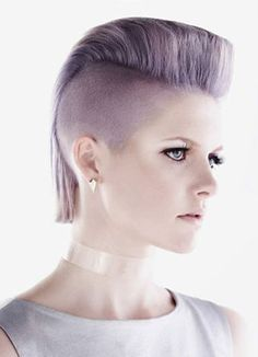 This is soooo popular now, not sure if I could pull it off.  Wella Trend Vision