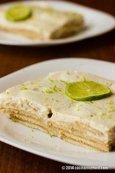 Receta de Pie de Limón Frío con Galletas Marías | Cocina Muy Fácil | http://cocinamuyfacil.com