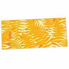"Jacqueline Milton ""Fun Fern - Citrus"" Orange Gold Desk Mat"