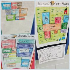 "Students create their ""dream houses"" and find the area of each room, and the total area of the house."