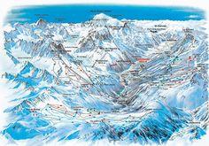 map of mount Blanc.