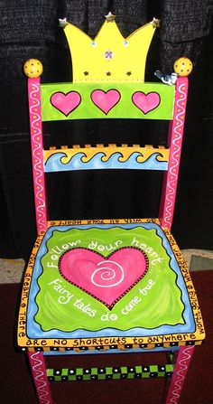 SO going to do this....have the chair from a garage sale....and have the granddaughter coming soon....LOVE this chair!!!