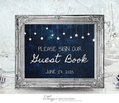 Star Guest Book Sign Printable Wedding Sign by soumyasinvitations: