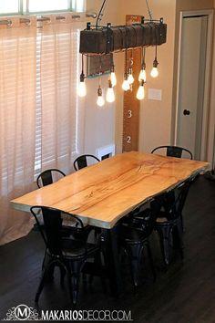 Best Farmhouse Dining Room Lighting Ideas – My Life Spot Rustic Chandelier Lighting, Shabby Chic Chandelier, Farmhouse Pendant Lighting, Cabin Lighting, Dining Room Lighting, Farmhouse Chandelier, Industrial Lighting, Modern Chandelier, Bar Lighting