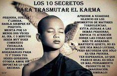 Los 10 secretos para transmutar el karma