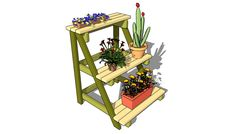 1000 images about plant stands on pinterest plant stands wooden plant stands and diy plant stand - Ladder plant stand plans free ...