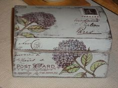 Decoupage Wood, Decoupage Vintage, Tea Box, Art N Craft, Jewellery Boxes, Wooden Gifts, Vintage Box, Space Crafts, Do It Yourself Home