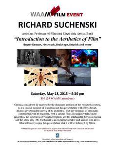 Richard Suchenski Saturday May 18 at 5:30 pm