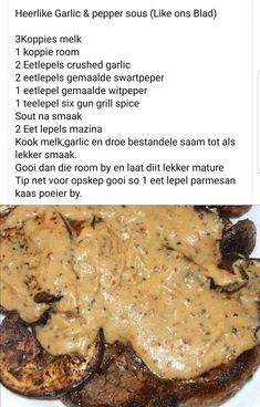 Banting Recipes, Meat Recipes, Whole Food Recipes, Cooking Recipes, Kos, Savory Sauce Recipe, Cut Recipe, Buttermilk Recipes, South African Recipes