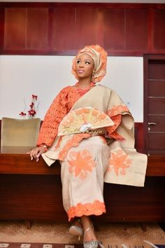 BellaNaija Bride Lani Photography by AkinTayoTimi Makeup by  Banke-Meshida Lawal for BM|PRO  Beads By Geebalo.  Nigerian Wedding Makeup aso oke gele beads naija bride yoruba