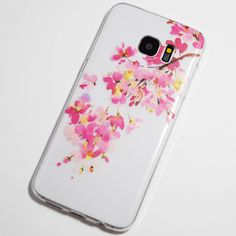 Pink and Yellow Flowers Samsung Galaxy S7 Edge Case
