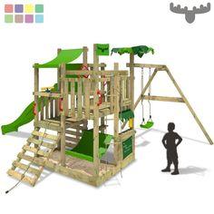Perfect FATMOOSE BananaBeach Big XXL Spielturm Kletterturm Schaukel Kaufladen H ngematte in Spielzeug Spielzeug f r drau en