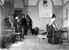 The last morning of Marie Antoinette, painted by  Louis Marie Baader