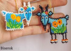 dangley legged beaded goat pattern- not in English but does have pattern.very cute for kids. Seed Bead Patterns, Peyote Patterns, Beading Patterns, Bracelet Patterns, Stitch Patterns, Seed Bead Earrings, Beaded Earrings, Seed Beads, Beaded Animals