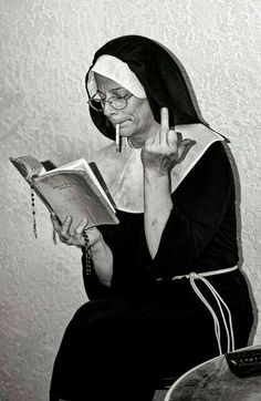 Even nuns do it! Aesthetic Iphone Wallpaper, Aesthetic Wallpapers, Black And White Photo Wall, Black White, Black And White Aesthetic, Photo Wall Collage, Bad Girl Aesthetic, Mood Pics, Belle Photo