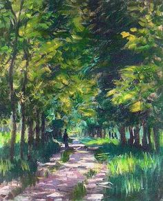 Masterpiece of Mont although it is in the era of his youth. See how he draw the trees lane with the effect of the sunlight's Claude Monet / Camille Pissarro, Claude Monet, Manet, Monet Paintings, Landscape Paintings, Abstract Paintings, Painting Art, Artist Monet, Kunst Online