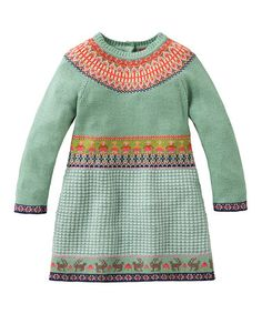 This Green Fair Isle Kosja Dress - Girls by Oilily is perfect! #zulilyfinds
