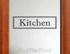 Kitchen Decal - Kitchen Sticker Lettering Vinyl Wall Decal - Home Decor Decals Vinyl Wall Art - Kitchen Decor Decals