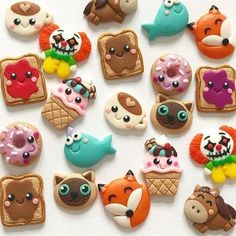 #earrings #jewelry #handmade #fashion #kidsfashion #gifts #gift #cute #kawaii #toast #peanutbutter #jam #icecream #clown #narwhal #donut #coffee #fox #siamese #siamesecat #horse #polymerclay #fimo #handmadejewelry #kids #funny #bff #etsy #etsyartist