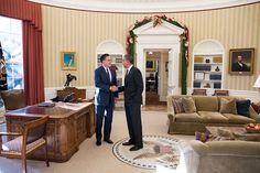 The White House has posted this image of Mitt Romney meeting with President Obama at the White House today, their first post-election gathering. Click the Pin for the Story: Obama, Romney Pledge to 'Stay In Touch' at White House Lunch.