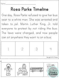 rosa parks timeline cut and paste freebie i am pleased to offer this cut and paste activity to. Black Bedroom Furniture Sets. Home Design Ideas