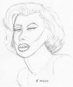 Marilyn Monroe, live drawn warm-up sketch on April 17, 2010 by aaipodpics, via Flickr