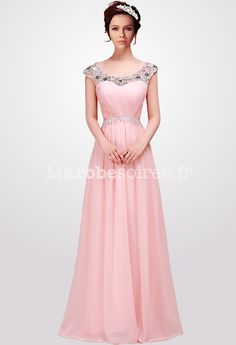Robe de soiree longue rose fuchsia