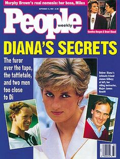 photo | Dark Secrets, Princess Diana Cover, The British Royals, Candice Bergen, Grant Shaud, James Gilbey, James Hewitt, Princess Diana