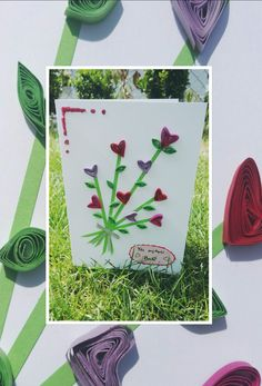 Přání pro maminku/babičku/sestru/kamarádku... #přání #květina #srdce #růžová #červená  Card for mum/granny/sister/friend... #card #flower #heart #pink #red