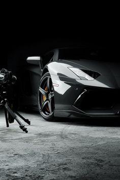 Lamborghini Aventador photoshoot setup