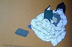 """Illustrazione di Lani Yamamoto, """"Le invenzioni antifreddo di Stina"""", Terre di Mezzo"""