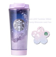 Starbucks KOREA 2017 Cherry Blossom LED Tumbler 355ml 1ea Cherry Blosso card SET #Starbucks