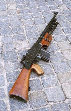 The rkm wz.1928 was the standard LMG used by almost all Polish infantry and cavalry units during the German-Soviet Invasion of Poland in 1939. Based upon the Belgian R75 variant of the Colt M1918 Browning Automatic Rifle (BAR) designed by American John Moses Browning, the Polish government purchased 10,000 modified rifles from Fabrique Nationale d'Armes de Guerre of Herstal, Belgium in 1929; and negotiated to produce licensed copies in Poland.