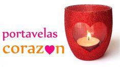 Manualidades para San Valentín ♥ PORTAVELAS CORAZÓN ♥ (Muy Fácil) - Inno...